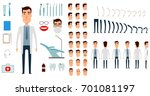 dentist character creation set. ... | Shutterstock . vector #701081197