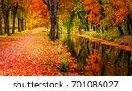 autumn landscape beautiful... | Shutterstock . vector #701086027