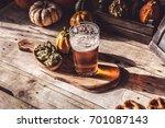 craft beer flight  halloween... | Shutterstock . vector #701087143