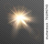 Sun. Lens Flare. Isolated Ligh...