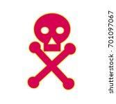 illustration of a poison symbol ... | Shutterstock .eps vector #701097067
