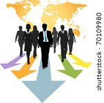 group of global business people ... | Shutterstock . vector #70109980