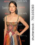 Small photo of NEW YORK, NY - AUGUST 17: Actress Margaret Qualley attends 'Death Note' New York premiere at AMC Loews Lincoln Square 13 theater on August 17, 2017 in New York City.