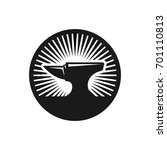 blacksmith logo. vector logo. | Shutterstock .eps vector #701110813