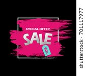 special offer sale banner in...