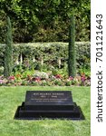 Small photo of Yorba Linda, CA/USA: March 20, 2017 – Gravestone of 37th President of the United States Richard Nixon at the Nixon Library and Museum in Yorba Linda California.