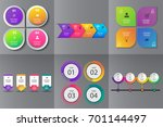 collection of infographic... | Shutterstock .eps vector #701144497