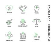 modern flat thin line icon set... | Shutterstock .eps vector #701146423