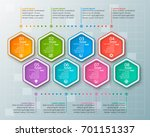 vector abstract  paper... | Shutterstock .eps vector #701151337