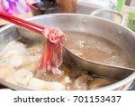 shabu shabu | Shutterstock . vector #701153437