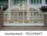 strong steel fence beautiful... | Shutterstock . vector #701159647