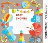 flat infancy bacground. baby... | Shutterstock . vector #701163817