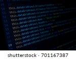 screen of developing java code... | Shutterstock . vector #701167387
