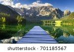 mountain lake in the julian... | Shutterstock . vector #701185567