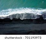 iceland black sand beach vik... | Shutterstock . vector #701193973