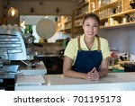pretty latin american business... | Shutterstock . vector #701195173