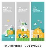set of vertical banners.... | Shutterstock .eps vector #701195233