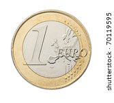One Euro Coin Isolated On Whit...