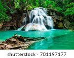 Soft Waterfall  Beautiful Gree...