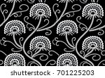seamless pattern sequins... | Shutterstock .eps vector #701225203