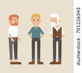 hipster style bearded man ... | Shutterstock .eps vector #701226343