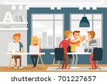 co working space with... | Shutterstock .eps vector #701227657