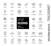 line icons set. security pack.... | Shutterstock .eps vector #701232007