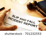 slip and fall injury report on... | Shutterstock . vector #701232553