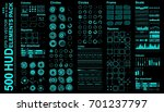 futuristic virtual graphic... | Shutterstock .eps vector #701237797