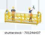 cradle. gondola. suspended... | Shutterstock .eps vector #701246437