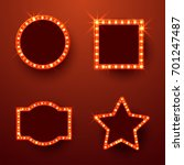 retro marquee frames with light ... | Shutterstock .eps vector #701247487