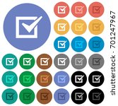 checked box multi colored flat... | Shutterstock .eps vector #701247967