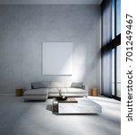 the minimal living room... | Shutterstock . vector #701249467
