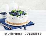 delicious no baked cheesecake... | Shutterstock . vector #701280553