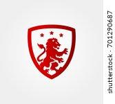 shield logo vector | Shutterstock .eps vector #701290687