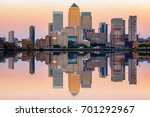 pink sunset at canary wharf its ... | Shutterstock . vector #701292967