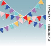 colorful party flags and... | Shutterstock .eps vector #701296213