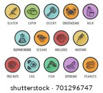 food allergy icons including... | Shutterstock .eps vector #701296747
