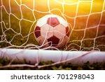 classic vintage soccer ball in... | Shutterstock . vector #701298043