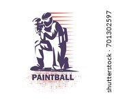 paintball player stylized... | Shutterstock .eps vector #701302597