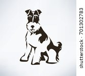 fox terrier stylized vector... | Shutterstock .eps vector #701302783