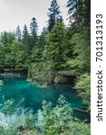 Small photo of lake blausee