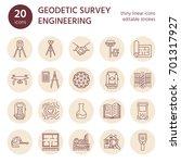 geodetic survey engineering...   Shutterstock .eps vector #701317927