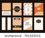 collection of autumn cards sale ... | Shutterstock .eps vector #701323213
