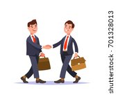 the meeting of two businessmen... | Shutterstock .eps vector #701328013