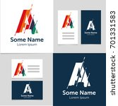 editable business card template ... | Shutterstock .eps vector #701331583