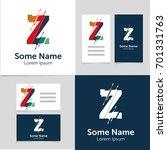 editable business card template ... | Shutterstock .eps vector #701331763