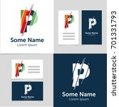 editable business card template ... | Shutterstock .eps vector #701331793