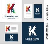 editable business card template ... | Shutterstock .eps vector #701331817