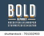 Vector of bold modern font and alphabet | Shutterstock vector #701332903